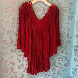 NWT Jen's Pirate Booty Stevie Top, Red